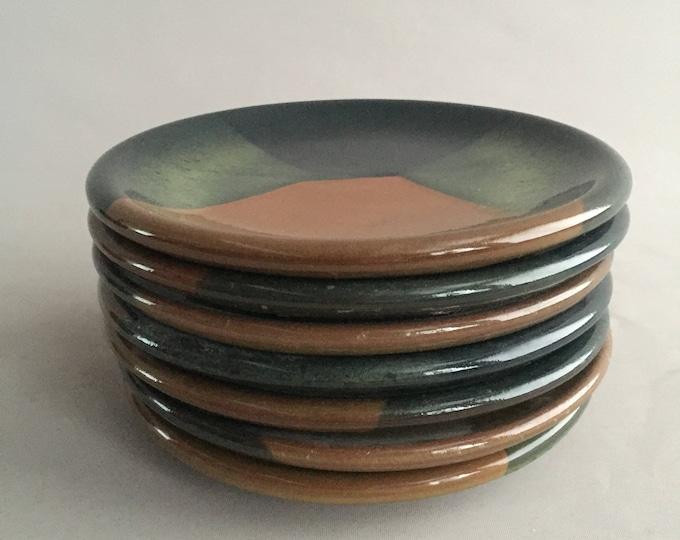 handmade plates Tregurnow pottery Cornwall