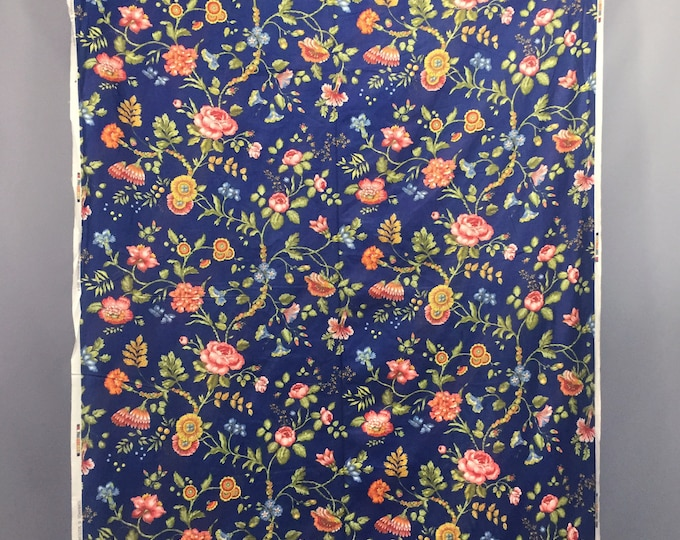 1980s chintz floral fabric