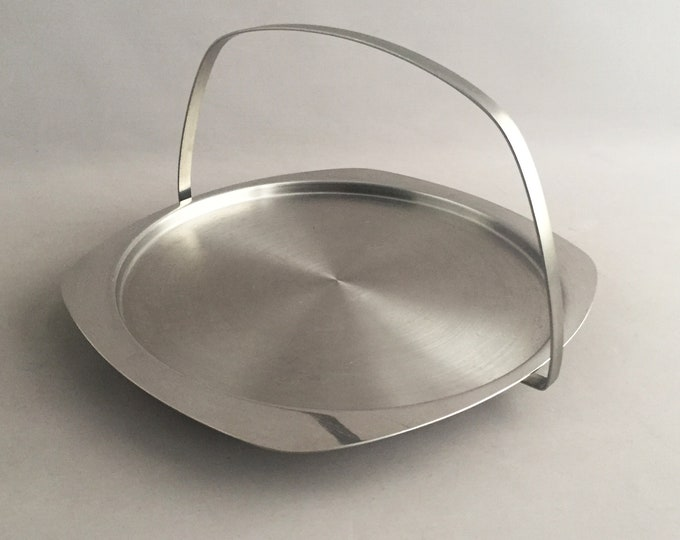 modernist stainless steel sandwich tray / fruit bowl