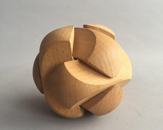 1960s wooden sculpture puzzel
