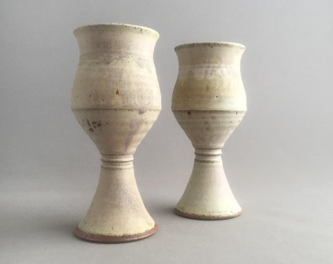 studio pottery stoneware goblets