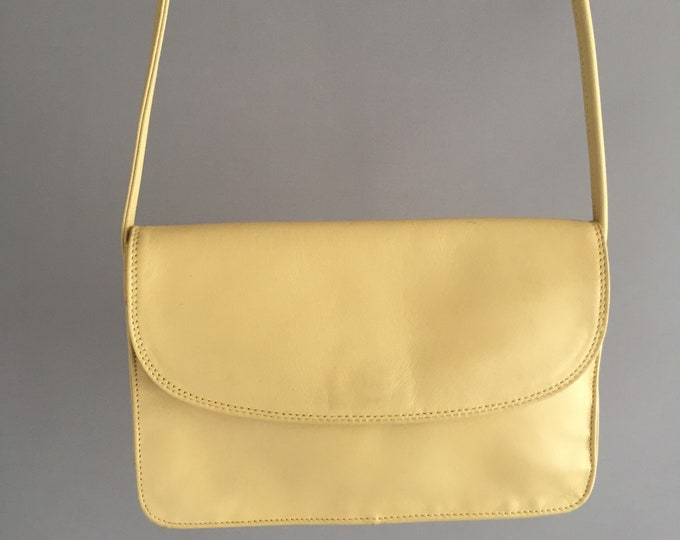butter yellow 1980s Tula leather cross body bag