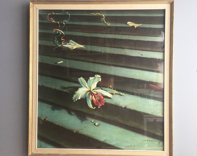 retro framed print 'the lost orchid' by Tretchicoff