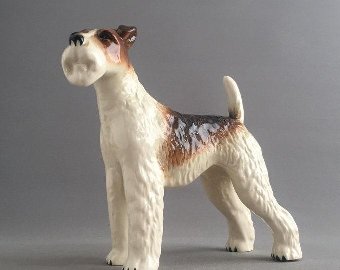 ceramic ornamental fox terrier
