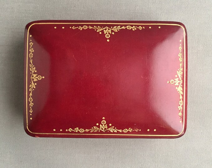 gilded leather box