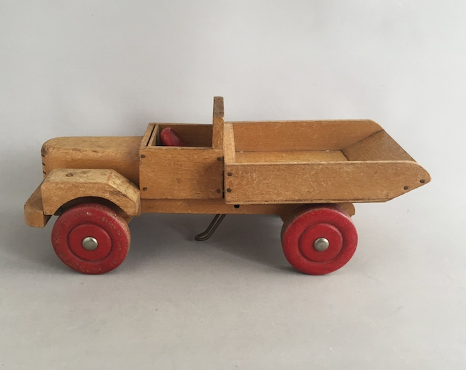 Chad valley vintage  wood pick up truck