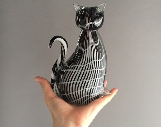 Dino Martins Murano glass cat
