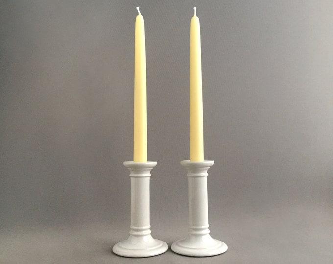 ceramic column candlestick holders