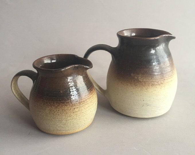 hand made ceramic jug set