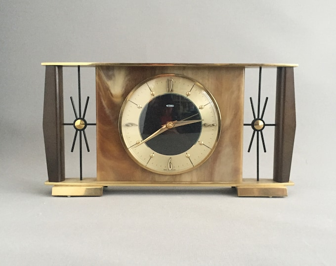 1950s onyx mantel clock