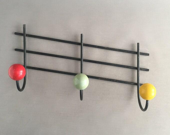 1950s atomic style wall hooks