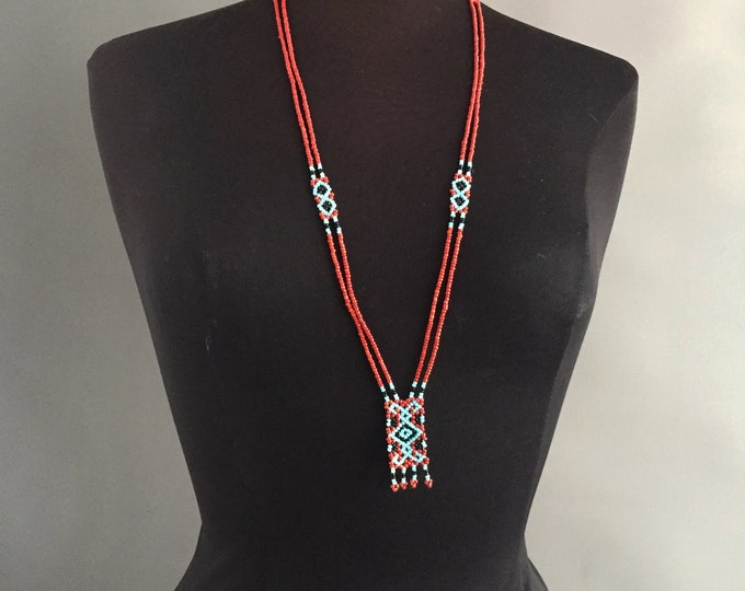 vintage native american bead necklace