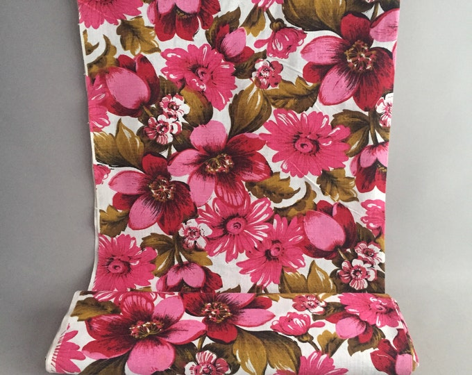 1970s flower fabric by the meter
