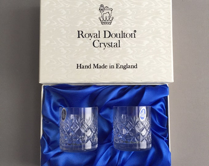 Royal Doulton crystal tumblers