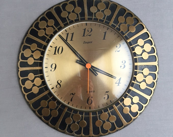 mid-century wall clock