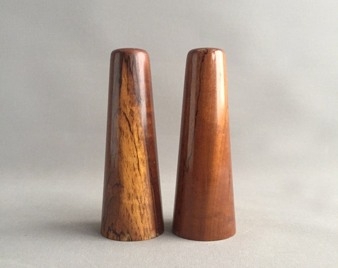 Rosewood salt and pepper shakers