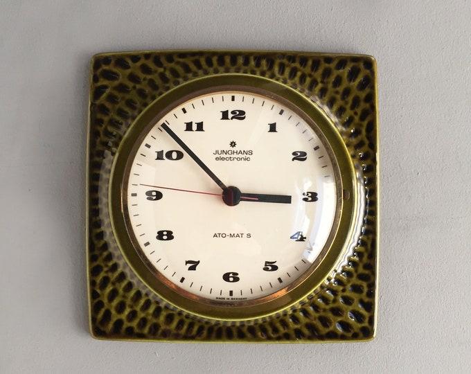 1960s ceramic wall clock