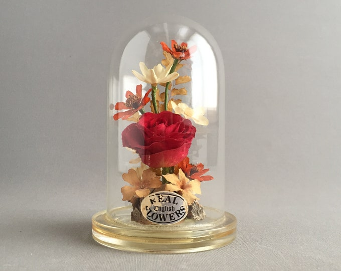 flower glass dome ornament