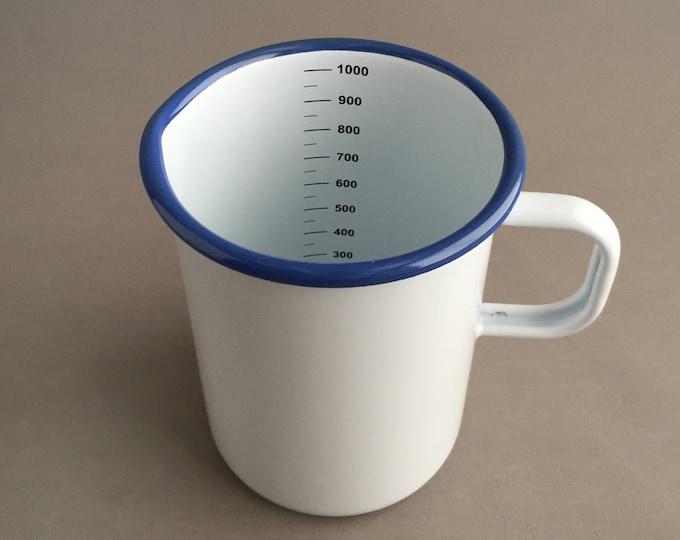 1l enamel measuring jug