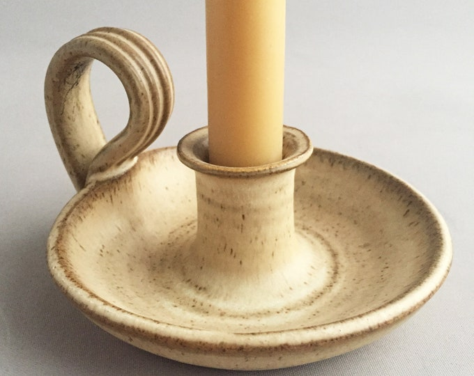 1970s ceramic candle stick holder
