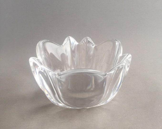 Orrefors Dala Petal Crystal Bowl Vase