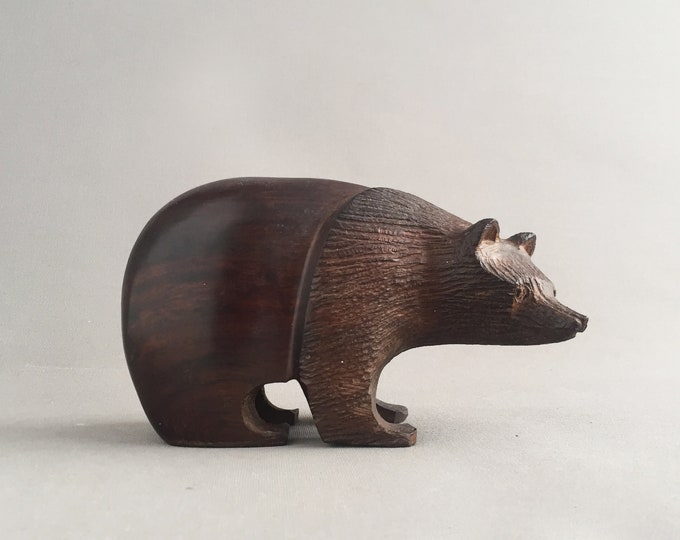 Black forest bear wood carving