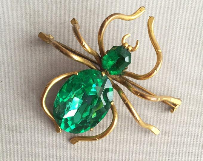vintage spider brooch