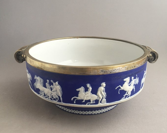 cobalt Blue Wedgwood Jasperware Bowl