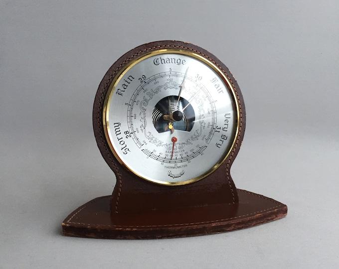 vintage mantel / desk barometer