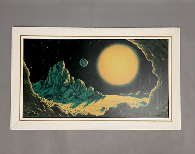 David Hardy  Stellar Radiance retro framed print