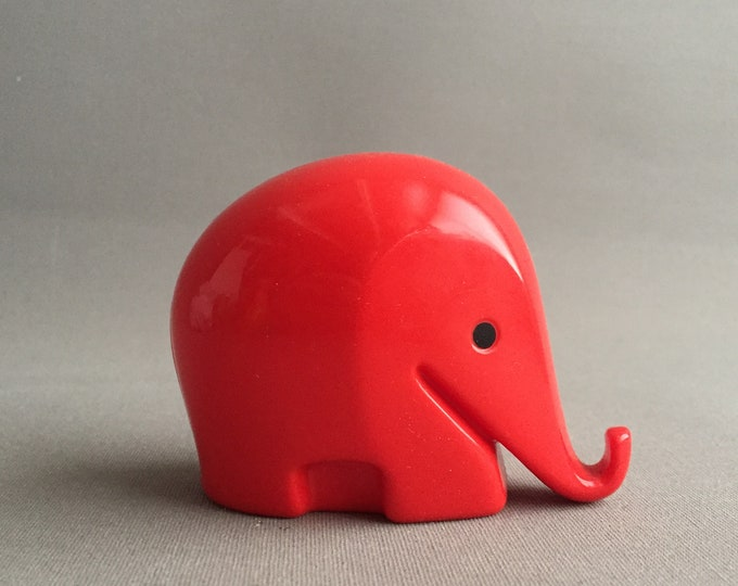 Midcentury modern plastic Elephant money box