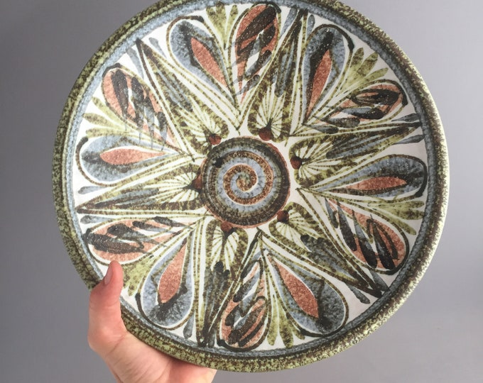 large Denby studio pottery fruit bowl
