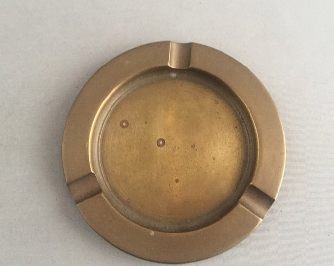 simple solid brass ashtray