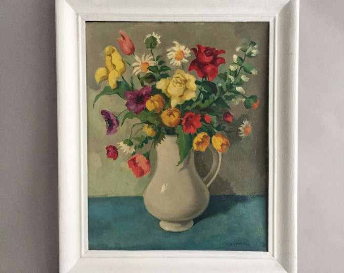oil painting still life of flowers