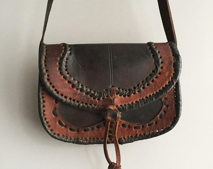 little leather moroccan cross body bag