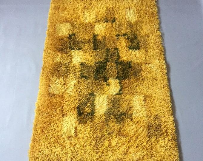 1960s wool rya rug