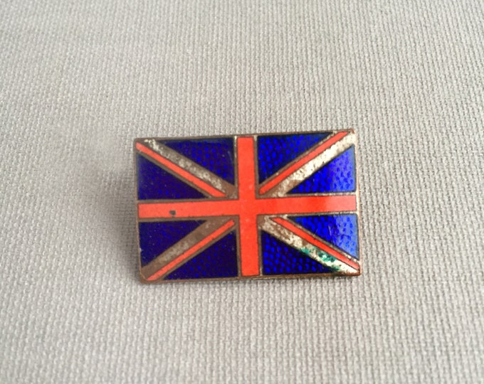 vintage union jack enamel pin badge
