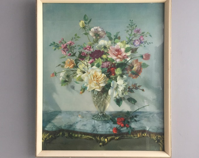 Vernon Ward framed flower picture
