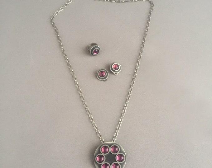 Bent Larsen Tun Denmark jewellery set