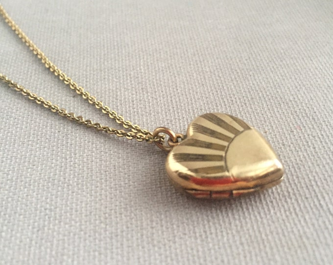 Deco rolled gold locket