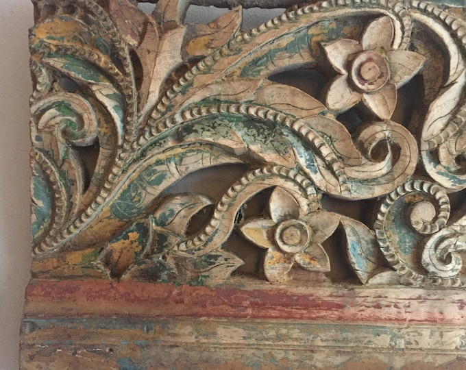 Old carved wooden panel