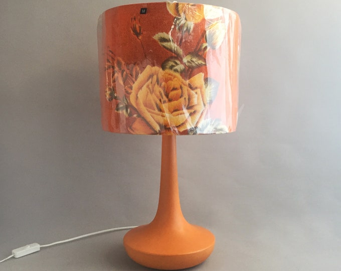 Funky Table light with 1950s fabric lampshade