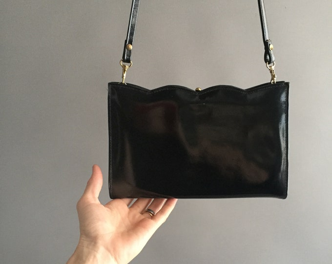 1980s patent leather handbag