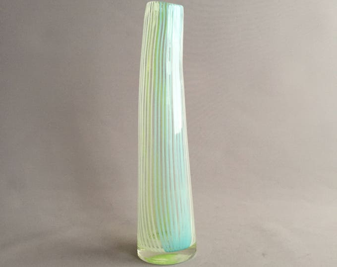 Murano Italian hand crafted glass vase