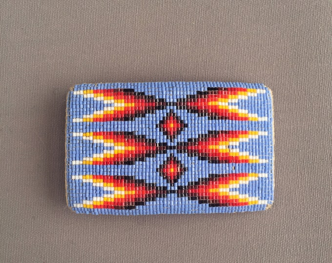 Traditional Native American Micro Beaded Belt Buckle
