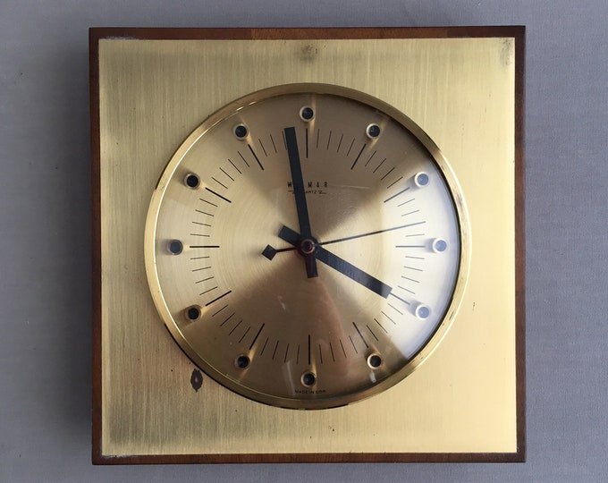1970s brass wall clock