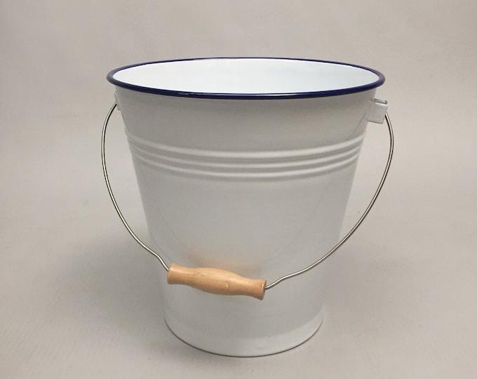 large enamel bucket