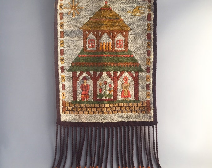 Retro wool wall hanging