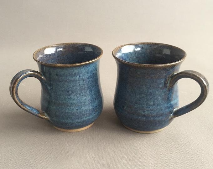 hand thrown pottery mugs x 2