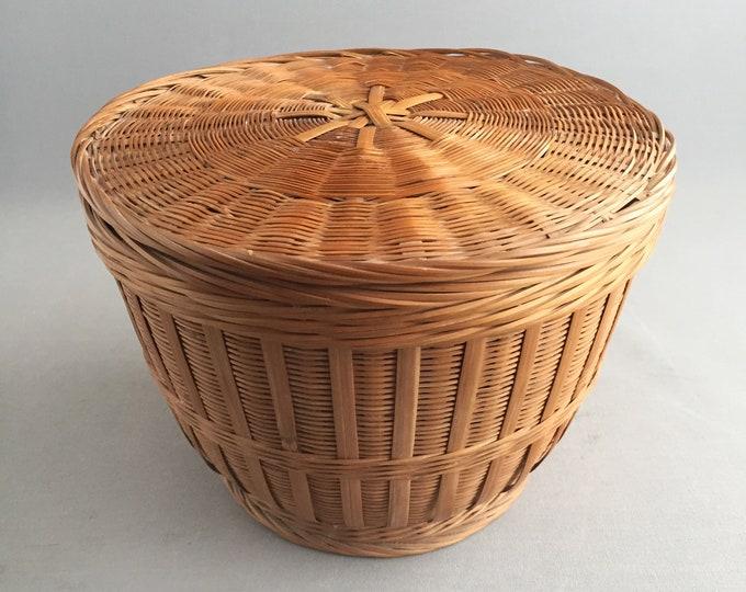 oriental basket with lid